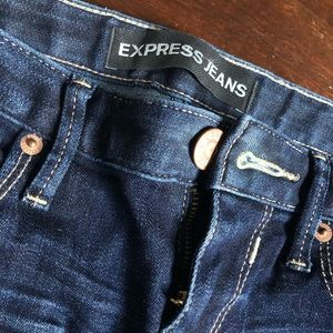 Express Ankle Skinny Dark Wash Jeans Size 2